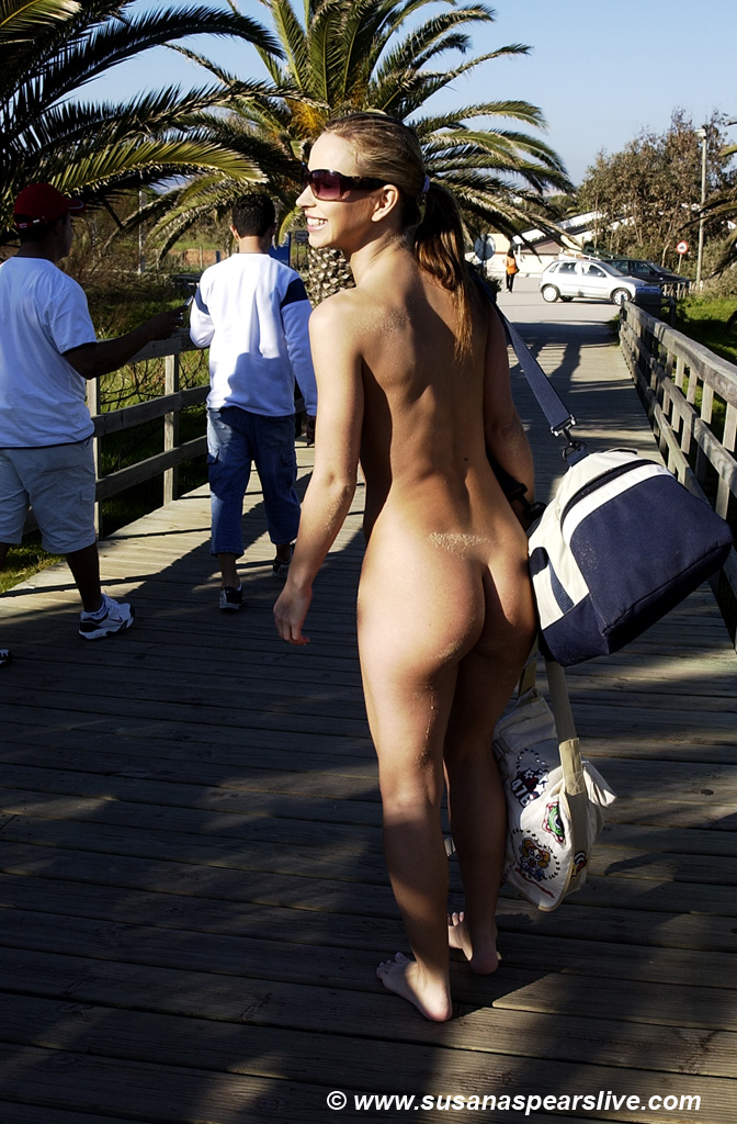 Susana spears body paint nude in public